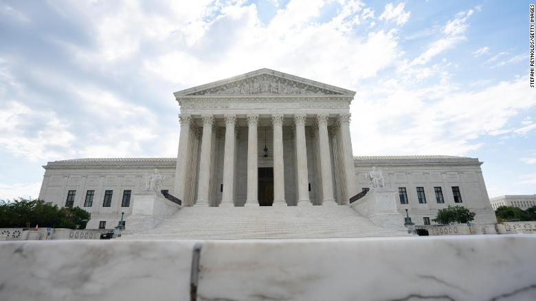 WASHINGTON, DC - JUNE 30: A general view of the U.S. Supreme Court on June 30, 2020 in Washington, DC. The court is expected to release a ruling determining whether President Trump can block the release of his financial records. (Photo by Stefani Reynolds/Getty Images)
